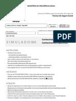 SIMULADO INSS TÉCNICO DO SEGURO SOCIAL