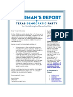 Chairmans Report Redistricting Update