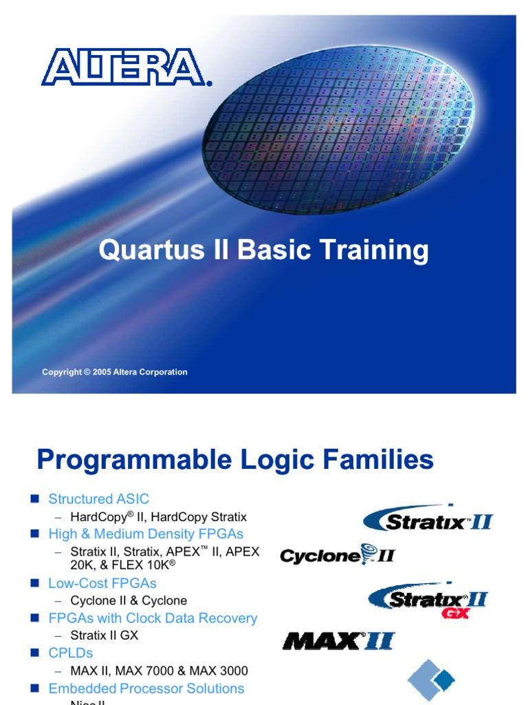 Quartus Ii Training Field Programmable Gate Array Flash Memory 2 Block Diagram Tutorial