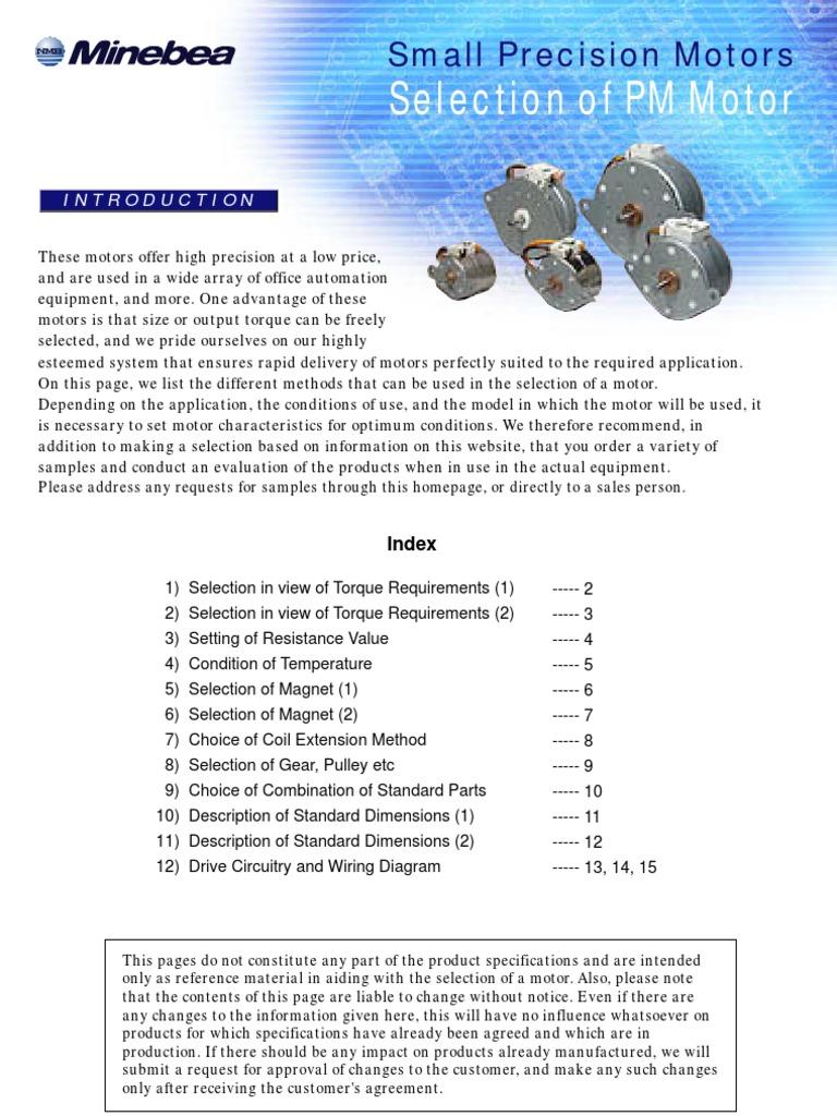 Minebea Katalog Silnikow Krokowych Gear Printed Circuit Board Torque 8 Wire Diagram