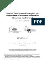 Informe violencia basada en el género y TIC en Colombia