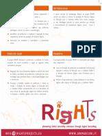 Brochura do Projeto RIGHTS em português