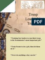 Troop 1300 Junior Leader Training Presentation
