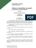 Lei Organica de Macae