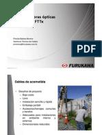 Cables y fibras ópticas para FTTH Ax