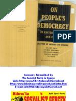 Για τη Λαϊκή Δημοκρατία στην Ανατολική Ευρώπη και στην Κίνα - Συλλογικό 1951 - Δημητρόφ, Μπιερούτ, Ράκοσι κ.ά. (Αγγλικά)