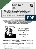 February 5 Bulletin