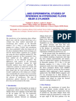 Vladimir V. Riabov and Andrei V. Botin- Numerical and Experimental Studies of Shock Interference in Hypersonic Flows Near a Cylinder