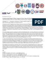 Transportation Unions Call on Congress to Pass Clean FAA Reauthorization
