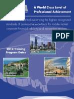 2012 CM&AA Brochure