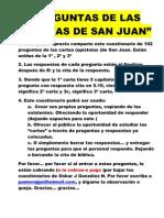 PREGUNTAS DE CARTAS DE SAN JUAN