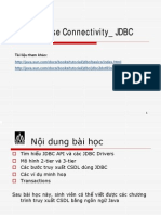 Accessing Database Using JDBC