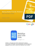 Google Webinar - Mobile Site Best Practices in Action