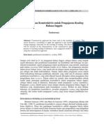Jurnal (pendekatan konstruktivis)