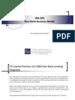 CH Capital - SBA 504 Non Bank Business Plan 412011