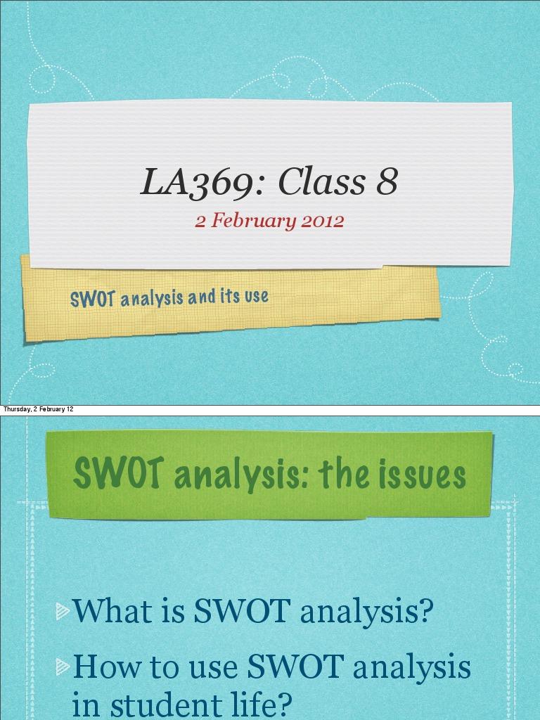 swot analysis and its use swot analysis accountability