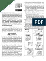 Little Giant ES33 Submersible Sump Effluent Pumps Manual