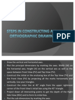 Steps in Constructing an Orthographic Drawing