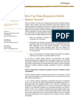 How Can China Respond to Global Market Turmoil
