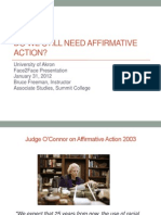 Do We Still Need Affirmative Action
