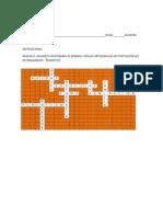 Crucigrama Reglas Ortograficas y de Redaccion