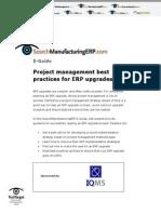 erp upgades project management best practices