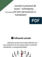 Influenta sociala in procesul de comunicare – schimbarea