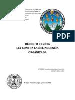Ley Contra La Delincuencia Organizada