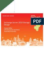 Exchange Storage Design