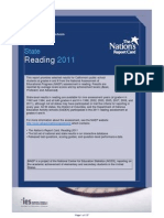 US Department of Education NAEP Report For California Reading Testing (2011)