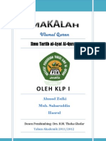 Ilmu Tartibul Ayat Al-Quran PDF