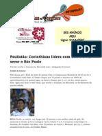 Paulistão Corinthians lidera com 100% e vai secar o São Paulo