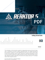 Reaktor 5 Getting Started English