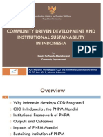 Community Driven Development and Institutional Sustainability in Indonesia