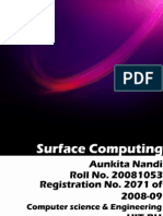 Surface Computing Seminar Report