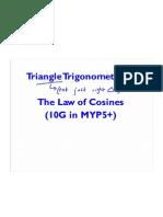 Triangle Trig - Cosine Rule - Block A