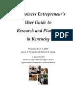 Entrepreneur Research Guide