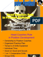 head coaches role by university of mary