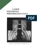 los alamos explosives performance data