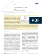 Single Walled Aluminosilicate Nanotubes With Organic Modified Interiors Kang D. Y. J. Phys. Chem. C 2011