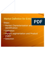 PMarket Definition for Entry Strategy