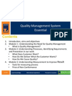 Quality Management Essential