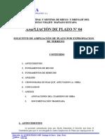 AMPLIACION DE PLAZO Nº 4 POR EXPROPIACION DE TERRENO