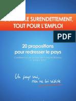 François Bayrou - 20 propositions