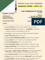 Agenda 2012 Casa Oraseneasca de Cultura / TAUTII-MAGHERAUS