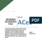 Business Statistics Vol 2 Online