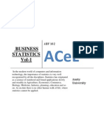 Business Statistics Vol 1 for Online