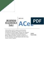 Business Statistics Vol 1 for Online