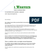 Image Weavers Introductory Letter