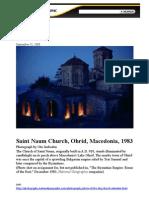 National Geographic - Saint Naum Church, Ohrid, Macedonia 1983